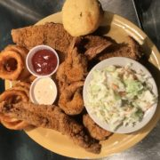 Gulf Shores Corn Meal Battered Admirals Platter