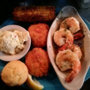 Gulf Shores Crab Cakes and Shrimp Combo