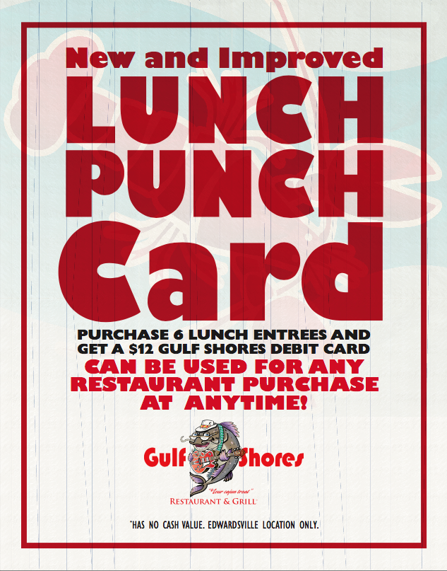 Lunch Punch Card